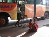 Messenslijpen, busstation Palani