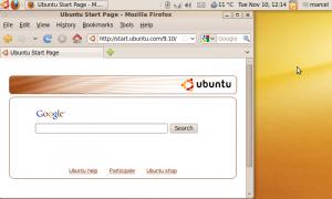 Asus Eee PC Ubuntu Karmic Koala desktop